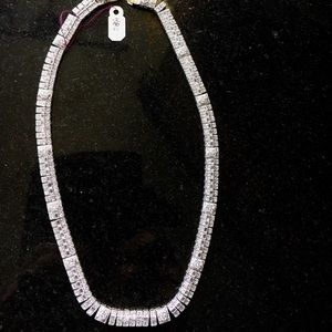 Sterling necklace with CZ
